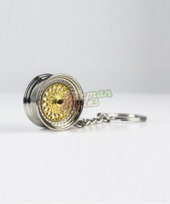 Porte clé BBS RS gold