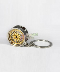 Porte clé BBS LM gold